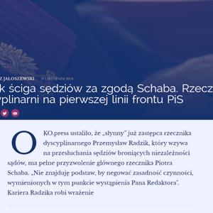 OKOpress_Radzik ściga sędziów za zgodą Schaba