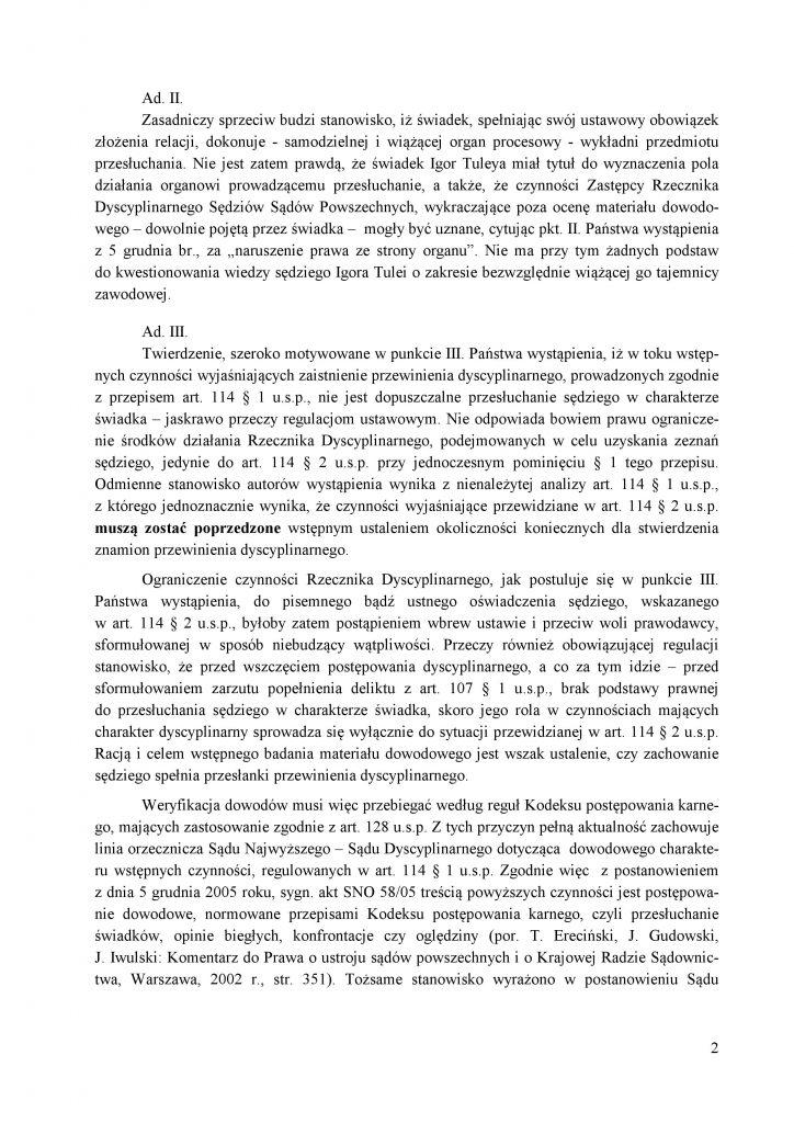 Odpowiedź Recznika Dyscyplinarnego do KOS_2