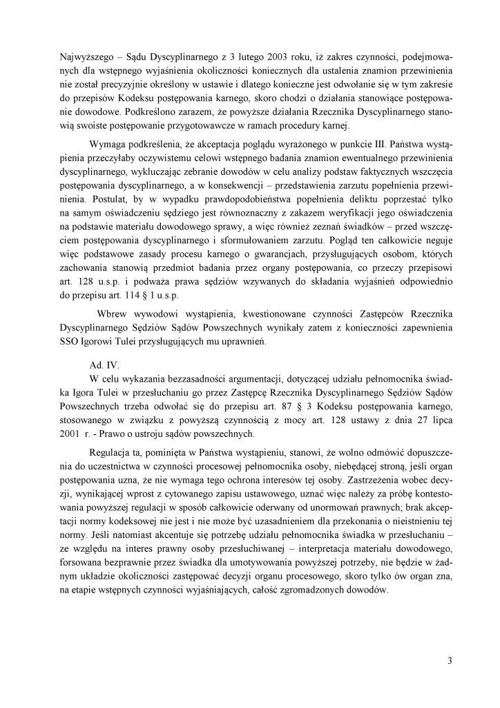 Odpowiedź Recznika Dyscyplinarnego do KOS_3