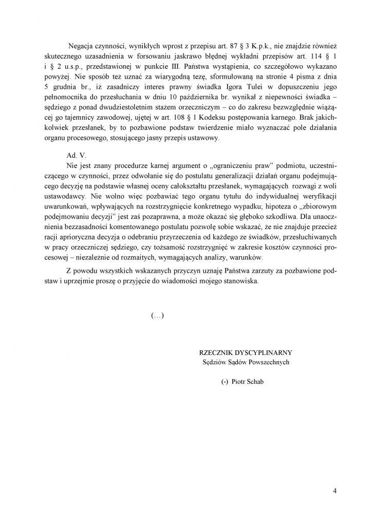 Odpowiedź Recznika Dyscyplinarnego do KOS_4