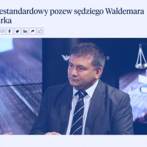 Rzeczpospolita_Niestandardowy pozew sędziego Żurka