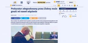 Prokurator zdegradowany przez Ziobrę_Onet_zdjęcie