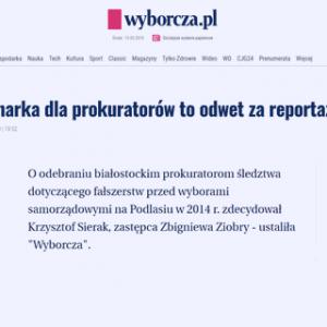 Wyborcza_Dyscyplinarka dla prokuratorów to odwet za reportaż TVN_zdjecie