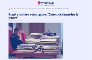 Wyborcza_Raport z nacisków wobec sęd