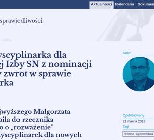 AO_Gersdorf dyscyplinarka dla prezes nowej Izby SN_zdjęcie