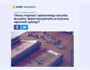Onet_Obraza majestatu sędziowskiego rzecznika dyscypliny_zdjęcie