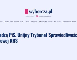 Wyborcza_Sąd nad władzą PiS. Unijny Trybunał_zdjęcie