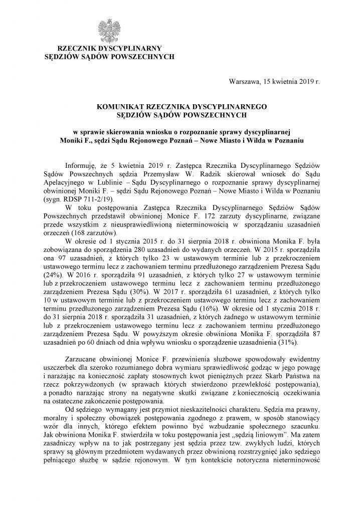 Komunikat Rzecznika_M.Frąckowiak_1