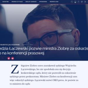 OKO.press_Sędzia Łączewski pozwie ministra Ziobrę_zdjęcia