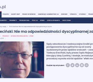 Prawo.pl_Prof. Ereciński Nie ma odpowiedzialności_zdjęcia