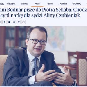 Rzeczpospolita_Adam Bodnar pisze do Piotra Schaba_zdjęcia