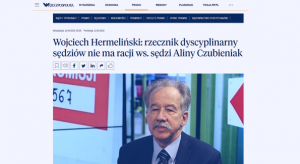 Rzeczpospolita_Wojciech Hermeliński rzecznik dyscyplinarny_zdjęcie
