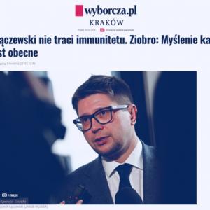 Wyborcza_Sędzia Łączewski nie traci immunitetu_zdjęcie