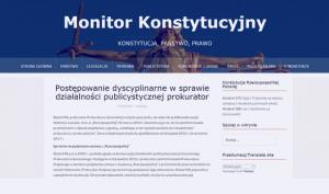 Monitor Konstytucyjny_Postępowanie dyscyplinarne w sprawie działalności_zdjęcie
