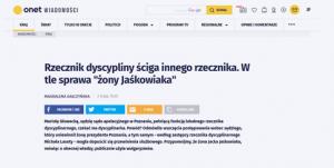 Onet_Rzecznik dyscyplinarny ściga innego rzecznika_zdjęcie