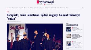 Wyborcza_Kaczyński, Lenin i emotikon_zdjęcie