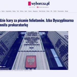 Wyborcza_Nie będzie kary za pisanie feliotonów_zdjęcie