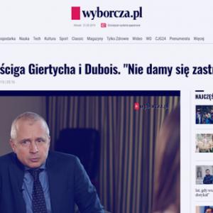 Wyborcza_Sąd Ziobry ściga Giertycha i Dubois_zdjęcie