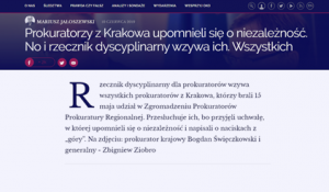 OKO.press_prokuratorzy z Krakowa upomnieli się_zdjęcie
