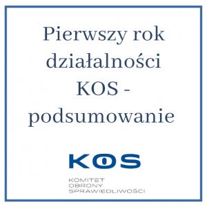 Podsumowanie działalności KOS_rocznica
