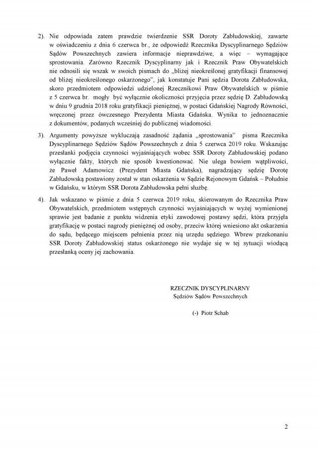 Rzecznik w odpowiedzi do sędzi Zabłudowskiej_2